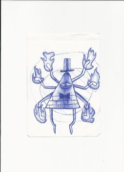 Draw Bill Cipher with the tip of a pen i found #5 by M1ntGr33n