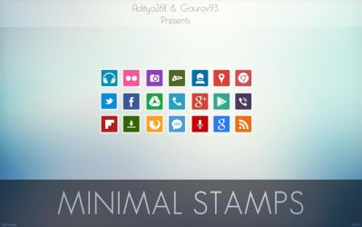 Minimal Stamps Icon Pack by Gaurav93