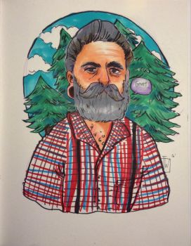 Old lumberjack man traditional by temporaryWizard