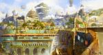 Hilltop City of Visegard by TylerEdlinArt
