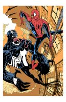 SPIDERMAN vs. VENOM by drawhard