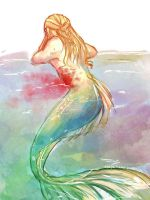 Legolas : Mermaid AU by silm-arilli
