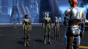 SWTOR Chiss and Human Imperial Agents in Kaas City by skylinegtr01