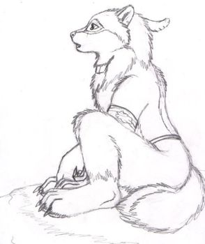 A Sad wolf pup by autumnfire