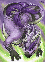 ACEO for Kyuubreon by Dragarta
