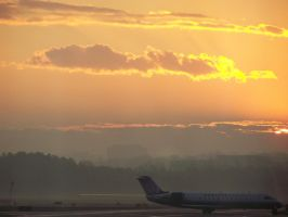 The sunrise at the DC airport by Mercedesm1
