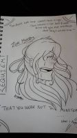 Zoe Murphy Head Sketch Quote  by NatalieGuest
