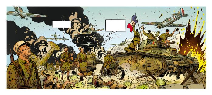 1940 Et si la France 2,  detail 5, color by Jovan-Ukropina