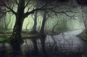Fantasy forest by Azot2017