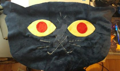 Cat Head Pillow by fether