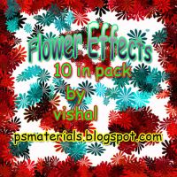 red flowers brushes by vishalrokez