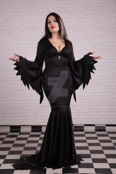 Morticia Addams 7 by Thunderstorm-Fairy