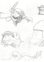 Meta Knight Sketches by IdanCarre