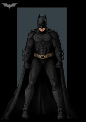 the dark knight  -  commission by nightwing1975