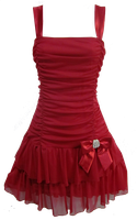 Flirty Short Red Dress PNG by Vixen1978
