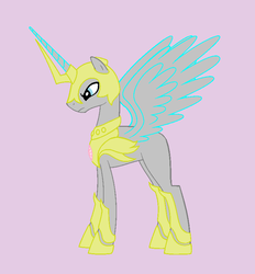 Male Alicorn in Armour - Base by Rain-Approves