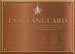 ISS Vanguard's dedication plaque by docwinter