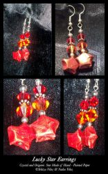 Lucky Star Earrings by tiranaki