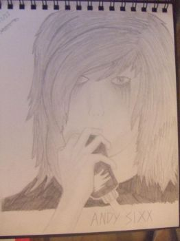 Andy Sixx Portrait by VicksyPicksy