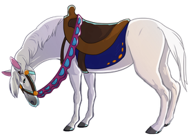Prince Charming's White Horse by Aspendragon