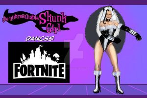 the unbreathable Skunk Girl dancing