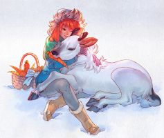 Reindeer Gifts by nakanoart