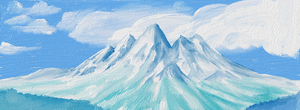 Mountains (Attempt at digital painting) by melpk