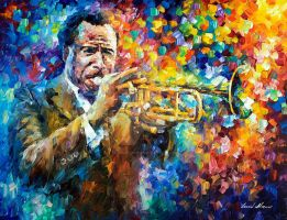 Trumpet Player by Leonid Afremov by Leonidafremov
