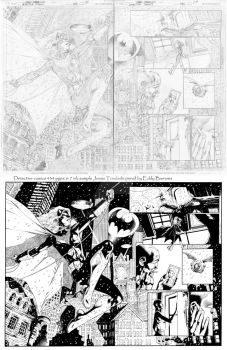 Detective Comics 434 ink  pgs 6-7 sample by JonasTrindade