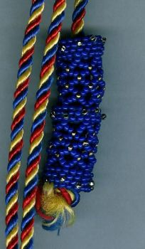 Large Blue Beaded Bead by Refiner