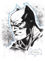 Batman head sketch 2017  Ohio comic con by aethibert