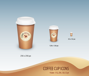 Coffee Cup Icons - Free by nirman