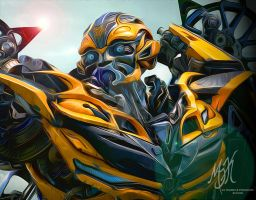 Transformers: Age of Extinction - Bumblebee by MessyArtwok