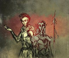 Indoril and Vehk by Velothii