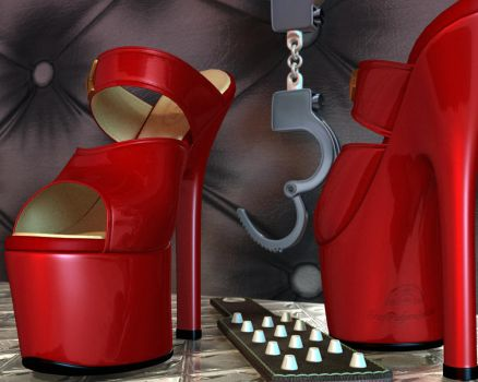 Red High Heels by 007Fanatic