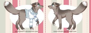 CLOSED   sweather canine adopt by gold-adopts