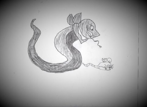 (Gift) Scout as a Ratsnake by yourhell99