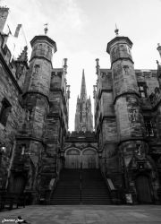New College Courtyard, Edinburgh by Immortalised-Images