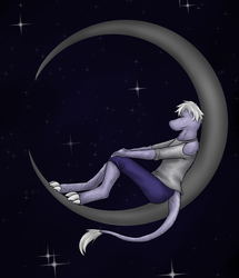 Chupa on the Moon by Lady-Vossler