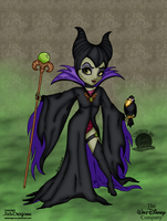 Maleficient Pinup by Blackmoonrose13