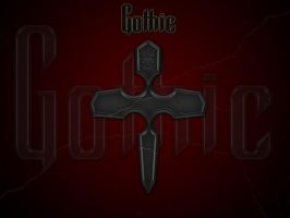 Gothic Cross by kush-solitary