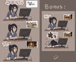 Rinoa does some research (Squall lion around) by skribleskrable