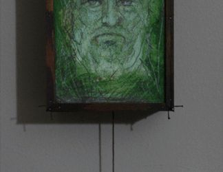 Green Man 2 sided drawing by Carnegriff