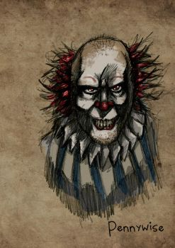 Pennywise from Stephen King's 'IT' by MrHades