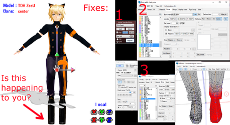 [MMD] How to Fix toe EX models for MMD 7.39 by Nintendraw