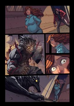 Night Wolf Comic Book Issue #1 Page 23 Colors by RAM-Horn