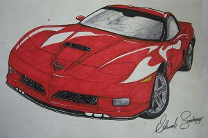 2009 Corvette Stingray Marker by Dragonis0