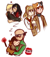 MCSM ships doodles by LazyCrocodile