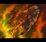 Jumping through fire by Roudanluoja