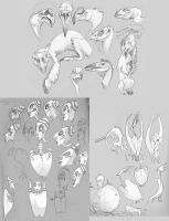 Floating Ballpoint Scribbles by Rowkey